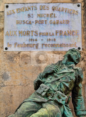 Word war memorial stock photo, First Word war memorial in the city of Toulouse in France by Laurent Dambies