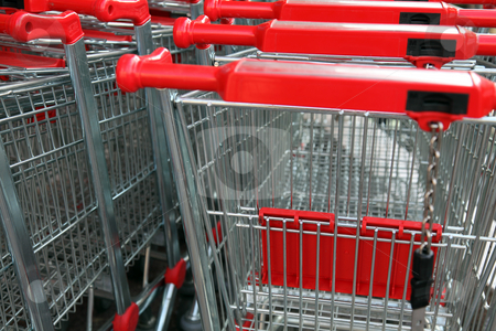 Stacked Shopping Carts stock photo, Stacked Shopping Carts by Diamantis Seitanidis