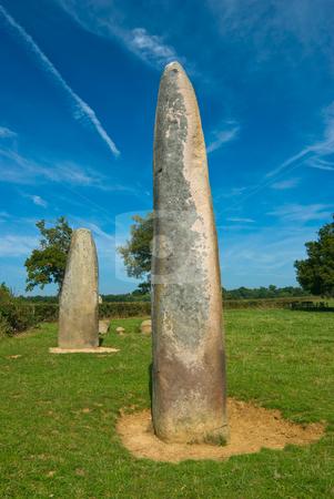 Menhire stock photo, Menhir ist eine urspr?nglich bretonische Bezeichnung f?r einen aufgerichteten  by Wolfgang Heidasch