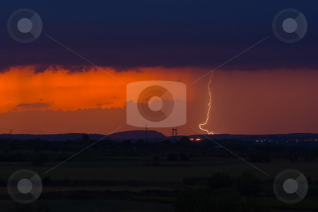 Gewitter - Thunderstorm stock photo, In der Provence in S?dfrankreich - In the provence in southern france by Wolfgang Heidasch