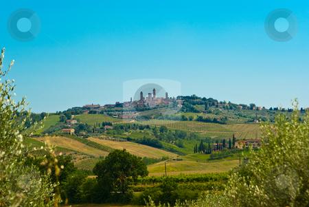 Dorfansicht San Gimignano, Toskana - City view of San Gimignano, stock photo, San Gimignano ist eine italienische Kleinstadt in der Toskana, im oberen Elsatal mit einem mittelalterlichen Stadtkern. - San Gimignano is a small walled medieval hill town in the province of Siena, Tuscany, north-central Italy. by Wolfgang Heidasch