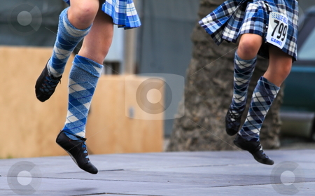 Seaside Highland Games stock photo, EDITORIAL ONLY  VENTURA, CA, USA - October 11, 2009 - Girls performing at a dance competition at the Ventura Seaside Highland Games October 11, 2009 in Ventura, CA Where: Ventura, CA, USA by Henrik Lehnerer