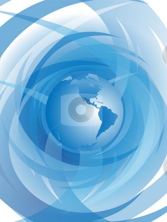 Blue planet on light background stock photo, Blue planet on abstract light background by Alina Starchenko