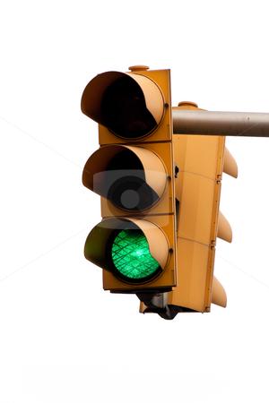 Traffic Light stock photo, Green traffic light. Vertically framed shot. by Erwin Johann Wodicka