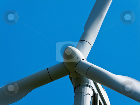 Wind Turbine stock photo, Closeup of wind turbine. Horizontally framed shot. by Erwin Johann Wodicka