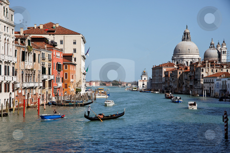 Grand Canal, Venice, Italy, Europe stock photo, Grand Canal in Venice, Italy, Europe. Horizontally framed shot. by Erwin Johann Wodicka