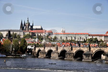 Charles Bridge in Prague stock photo, Charles Bridge with Prague Castle and Hradcany, Prague, Czech Republic, Europe. Horizontally framed shot. by Erwin Johann Wodicka