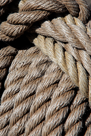 Rope stock photo, Close up of rope. Vertically framed shot. by Erwin Johann Wodicka