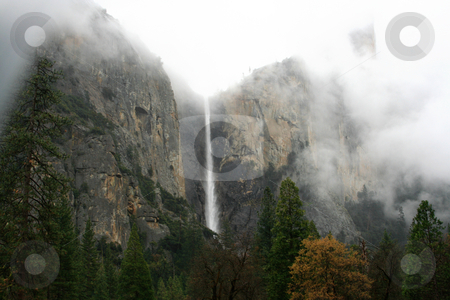 Bridalveil Fall stock photo, Bridalveil Fall in April; Yosemite National Park by Henry Enriquez