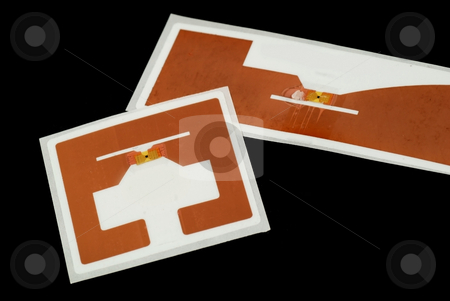 RFID tags stock photo, Stock pictures of different types of tags for RFID purposes by Albert Lozano