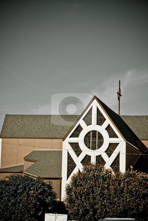 Church stock photo, Church with cross on the roof. by Tammy Abrego