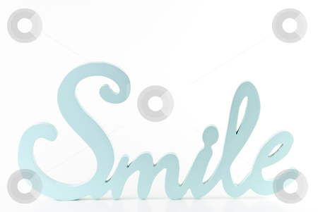 Smile text stock photo, Smile word isolated on white background by Tammy Abrego