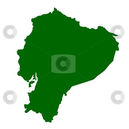 Ecuador stock photo, Map of Ecuador isolated on white background. by Martin Crowdy