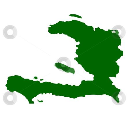 Haiti stock photo, Map of Haiti, isolated on white background. by Martin Crowdy