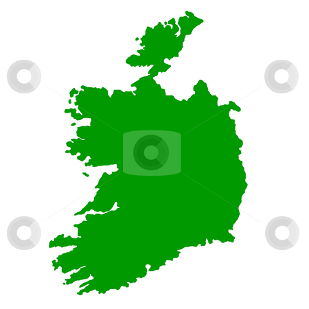 Republic of Ireland map stock photo, Map of Republic of Ireland isolated on white background. by Martin Crowdy