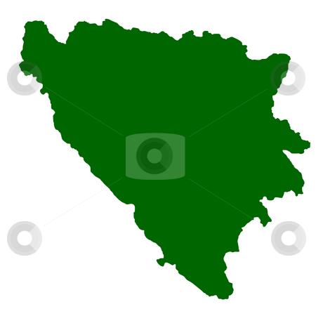Bosnia and Herzegovina stock photo, Map of Bosnia and Herzegovina isolated on white background. by Martin Crowdy