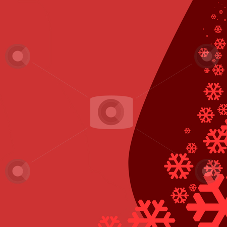 Snowing Christmas background stock photo, Illustration of snowing Christmas background with copy space. by Martin Crowdy