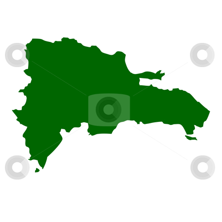 Dominican Republic stock photo, Map of Dominican Republic, isolated on white background. by Martin Crowdy