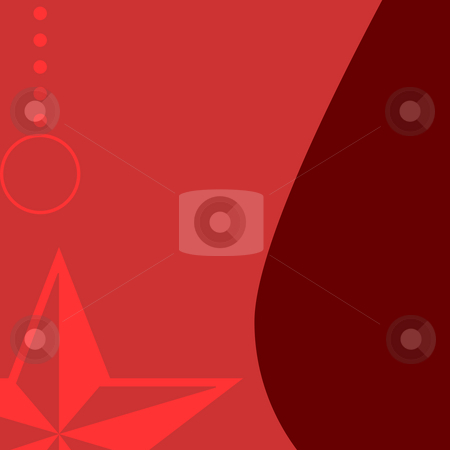 Christmas background stock photo, Illustration of red Christmas background with copy space. by Martin Crowdy