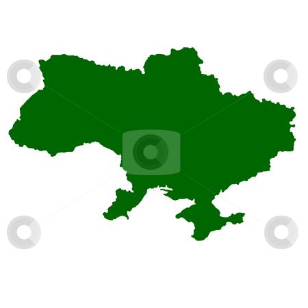 Ukraine stock photo, Map of Ukraine isolated on white background. by Martin Crowdy