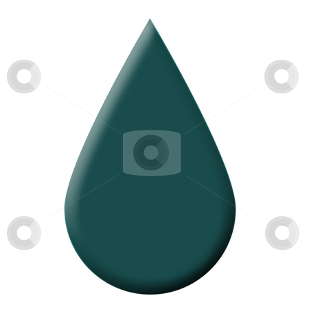 Drop of water stock photo, Single drop of water isolated on white background. by Martin Crowdy