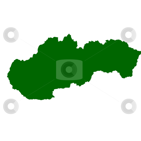 Slovakia stock photo, Map of Slovakia isolated on white background. by Martin Crowdy