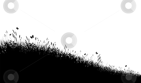 Grass Outline Vector Meadow grass