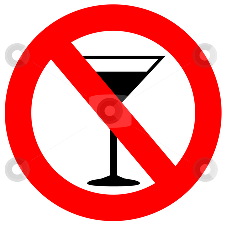 No Alcohol Sign stock photo, No alcohol sign isolated in white by Georgios Kollidas