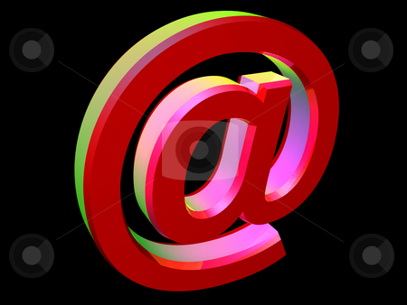 Email icon stock photo, 3d colorful e-mail icon - at @ by Mile Atanasov