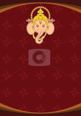 Ganesha stock vector clipart, Ganesha by Ajay Shrivastava