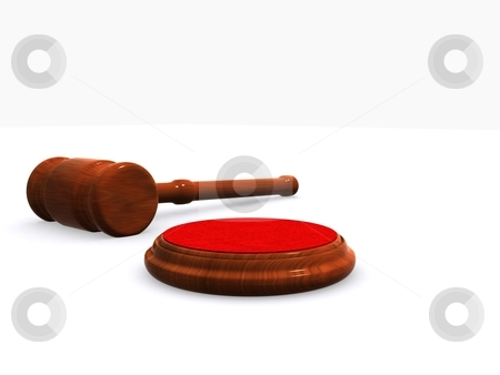 Hammer Gavel stock photo, A hammer maded in 3d on a white background by Jan Schering
