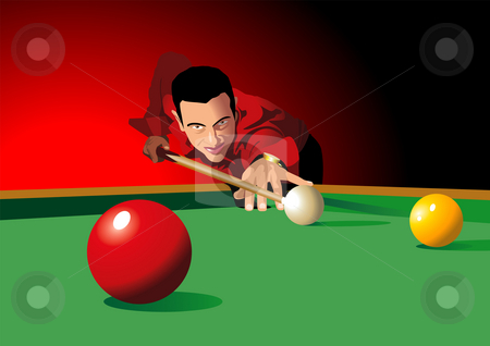 Playing Pool stock photo,  by Rudolf Iskandar