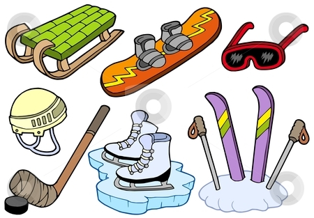 Winter sports collection stock vector clipart, Winter sports collection - vector illustration. by Klara Viskova
