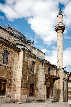 Mosque building stock photo, Great Mousque in Konya / Cappadocia Turkey by Plrang