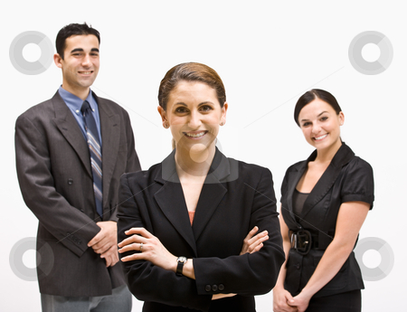 Smiling business people stock photo, Smiling business people by Jonathan Ross