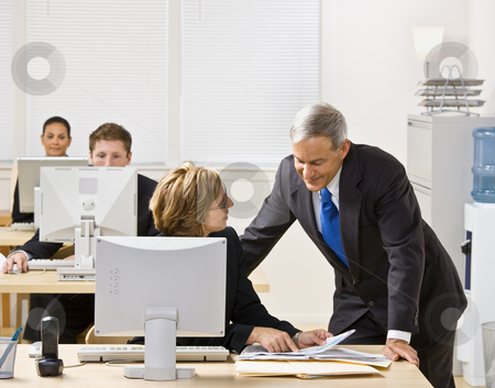Business people working together stock photo, Business people working together by Jonathan Ross