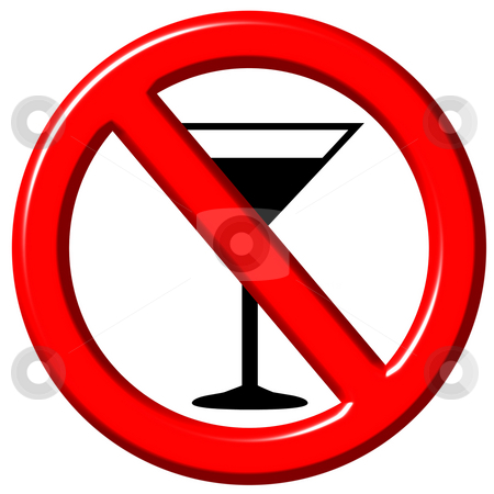 No Alcohol 3D Sign stock photo, No alcohol 3d sign isolated in white by Georgios Kollidas