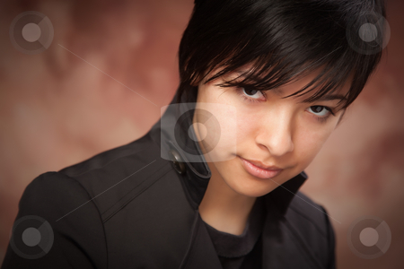 Attractive Ethic Girl Poses for Portrait stock photo, Attractive Ethic Girl Poses for Her Portrait. by Andy Dean