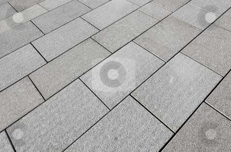 Large grey paving slabs close up. stock photo, Large grey paving slabs close up. by Stephen Rees