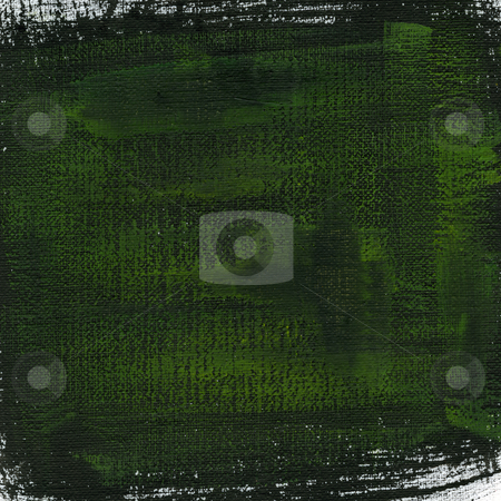 Green and black painted canvas texture stock photo, Green and black watercolor painted abstract on white cotton artist canvas by Marek Uliasz