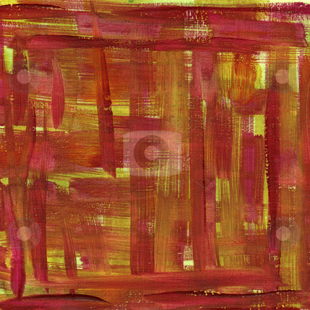 Red and yellow watercolor abstract with canvas texture stock photo, Texture of rough red and yellow  watercolor abstract on artist cotton canvas, self made by Marek Uliasz