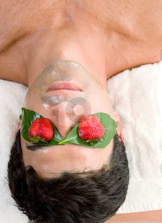 Fruit Acid Peel Mask stock photo, Fruit Acid Mask - A beauty mask that leaves the skin looking bright and feeling soft and smooth.  It hydrates the skin and accelerates exfoliation. by Leah-Anne Thompson