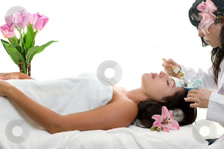 Skin Health stock photo, Estheticians provide medical care, skin consultation and analysis  to maximize the health and beauty of skin.