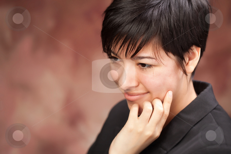 Multiethnic Girl Poses for Portrait stock photo, Multiethnic Girl Poses for a Studio Portrait. by Andy Dean