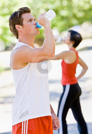 Runner drinking water stock photo, Runner drinking water by Jonathan Ross