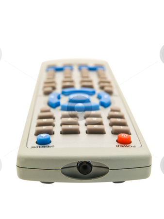 Remote control stock photo, Remote control over the white background by Sergej Razvodovskij