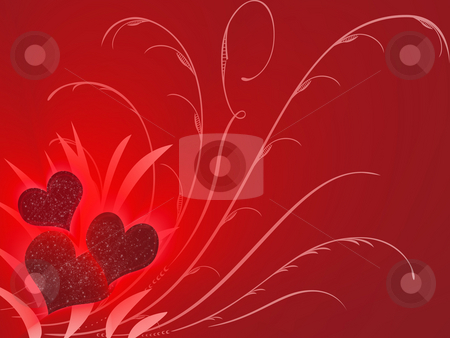 Valentines stock photo, Three valentines in red by Minka Ruskova-Stefanova