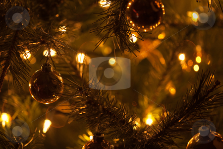 Warm Christmas Tree Decoration Abstract stock photo, Warm Christmas Tree Decoration Abstract Background Image. by Andy Dean