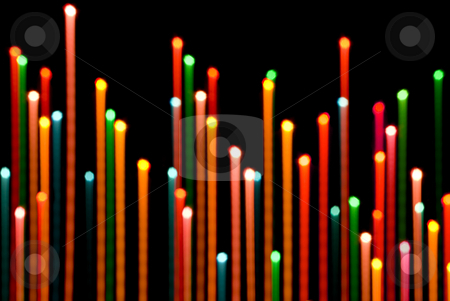 Rising lights stock photo, Abstract background of out of focus light trails by Stephen Gibson
