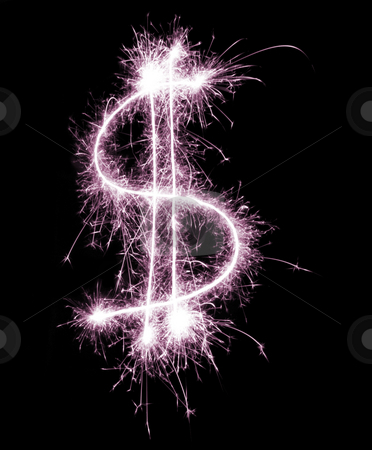 Gay Spending Power stock photo, A sparkling pink dollar symbol, concept of the Dorothy dollar by Stephen Gibson